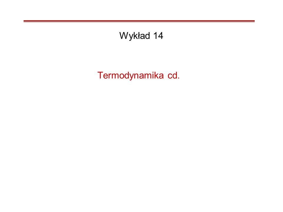 Wykład 14 Termodynamika cd.
