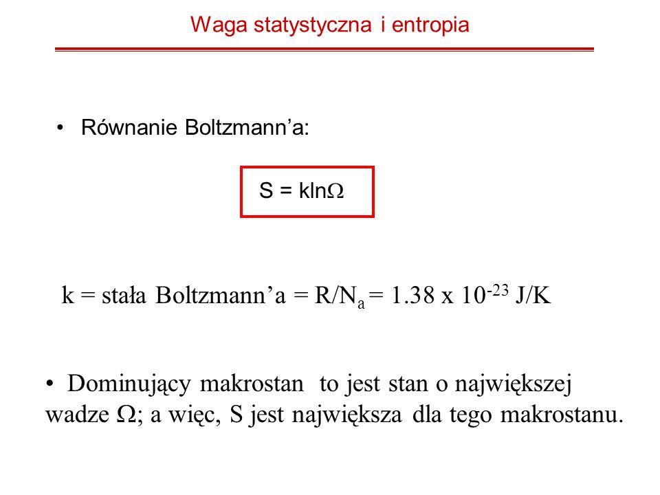 Waga statystyczna i entropia