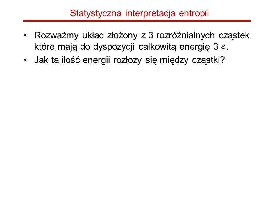 Statystyczna interpretacja entropii