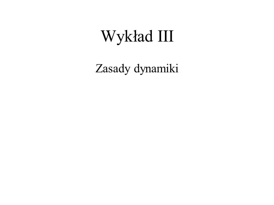 Wykład III Zasady dynamiki