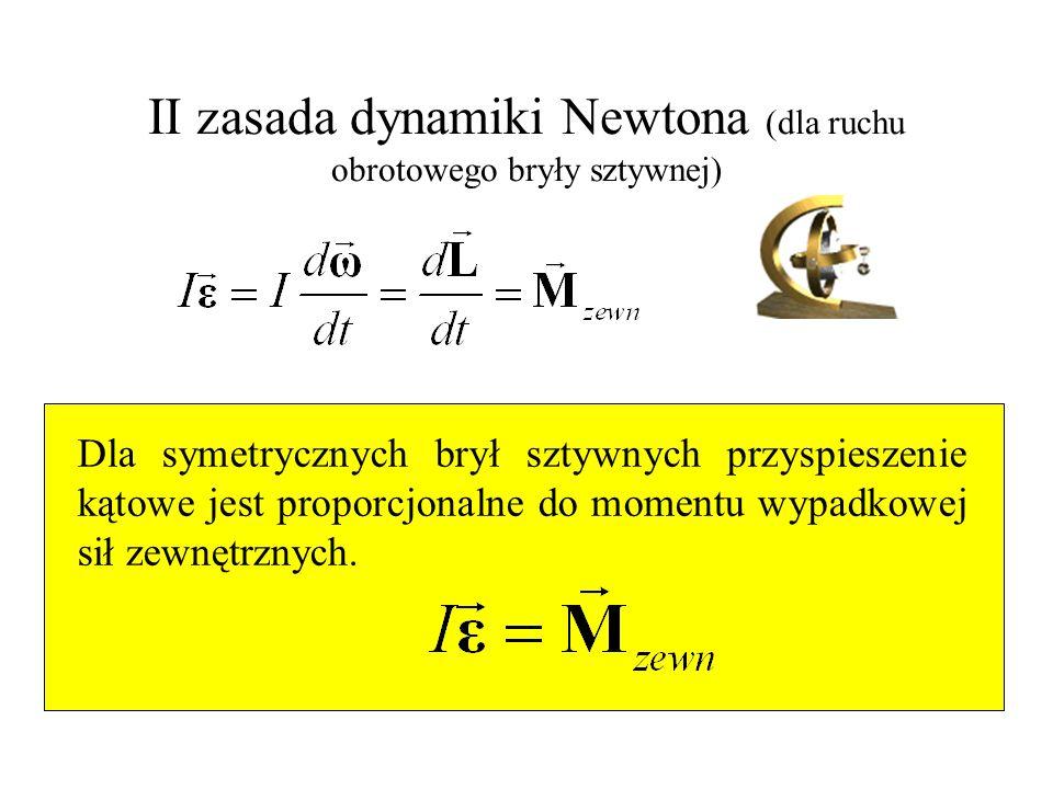 II zasada dynamiki Newtona (dla ruchu obrotowego bryły sztywnej)