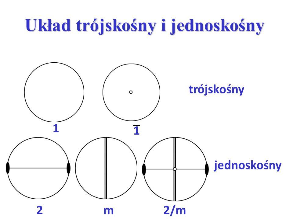 Układ trójskośny i jednoskośny