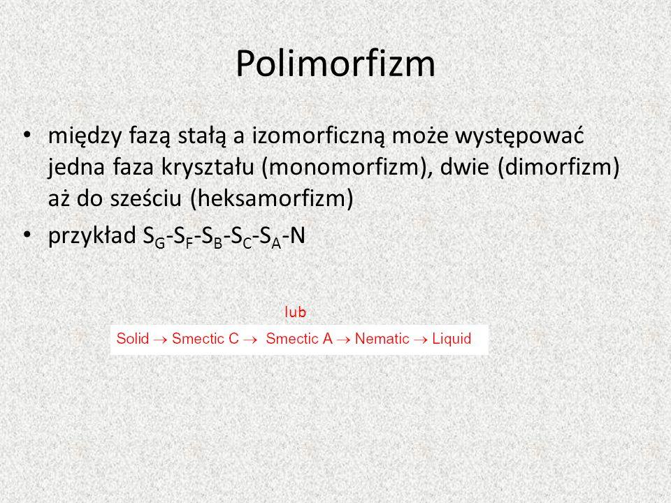 Polimorfizm między fazą stałą a izomorficzną może występować jedna faza kryształu (monomorfizm), dwie (dimorfizm) aż do sześciu (heksamorfizm)