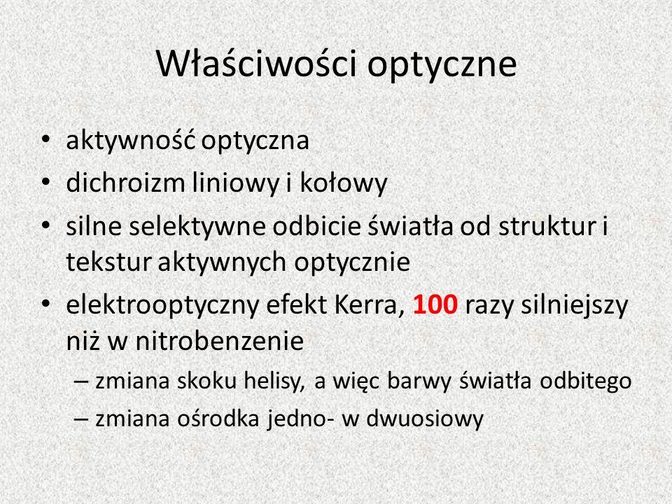 Właściwości optyczne aktywność optyczna dichroizm liniowy i kołowy