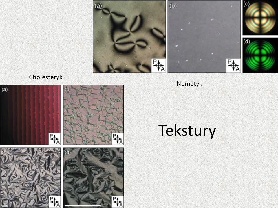 Cholesteryk Nematyk Tekstury