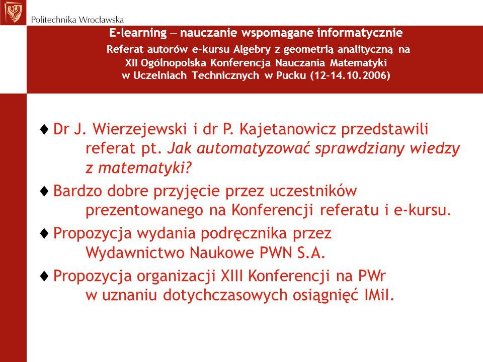 Propozycja wydania podręcznika przez Wydawnictwo Naukowe PWN S.A.