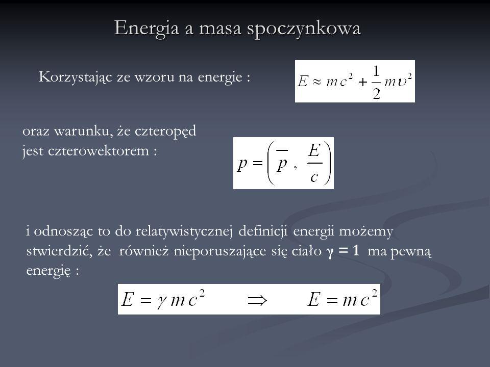 Energia a masa spoczynkowa