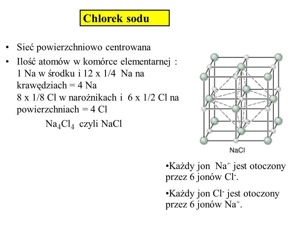 Chlorek sodu Sieć powierzchniowo centrowana
