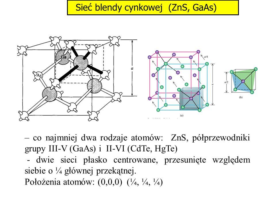 Sieć blendy cynkowej (ZnS, GaAs)