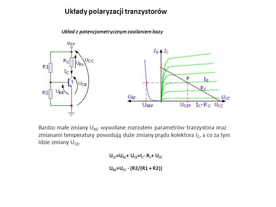 UCC=URC+ UCE=IC· RC+ UCE UBE=UCC · (R2/(R1 + R2))