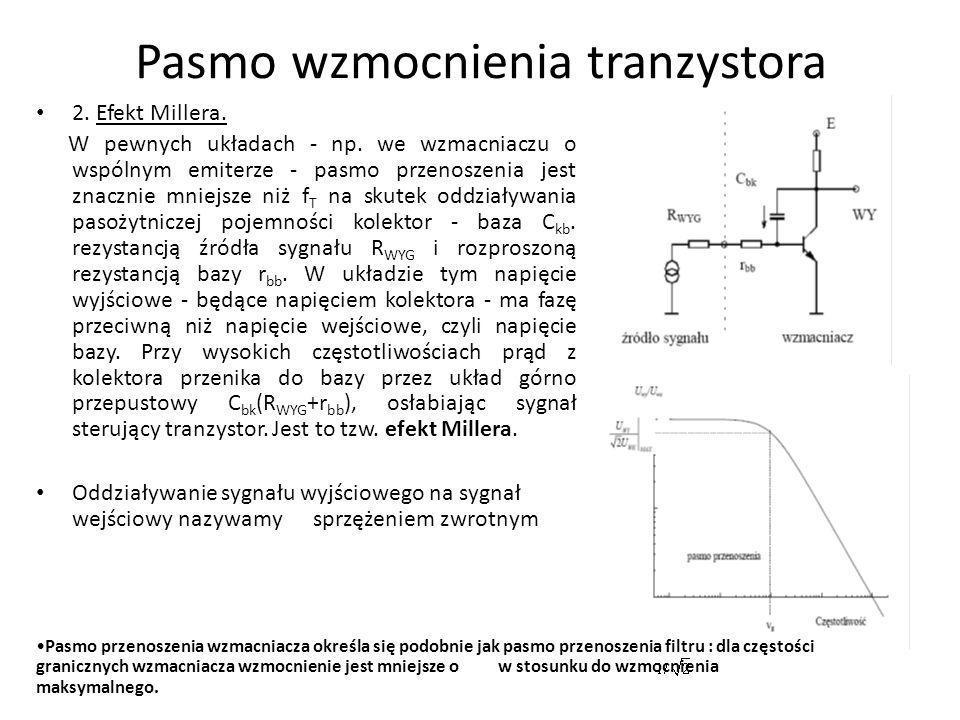 Pasmo wzmocnienia tranzystora