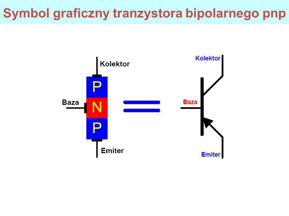Symbol graficzny tranzystora bipolarnego pnp