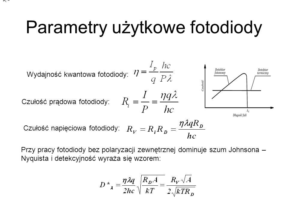 Parametry użytkowe fotodiody