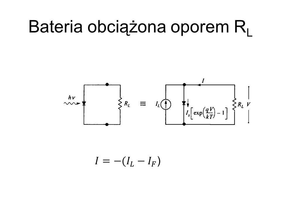 Bateria obciążona oporem RL
