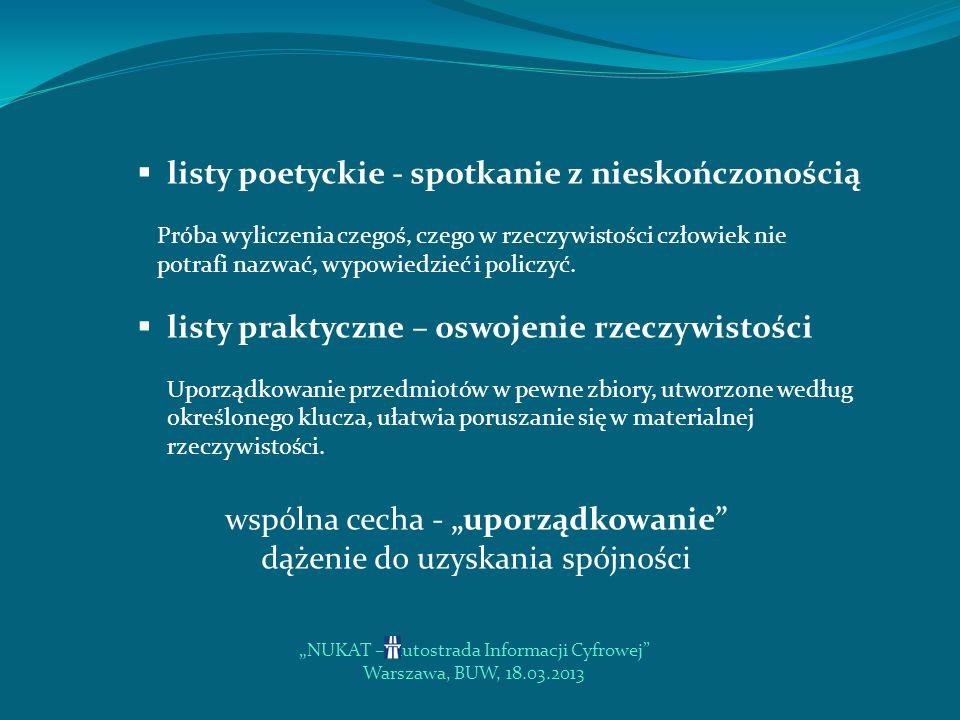 listy poetyckie - spotkanie z nieskończonością