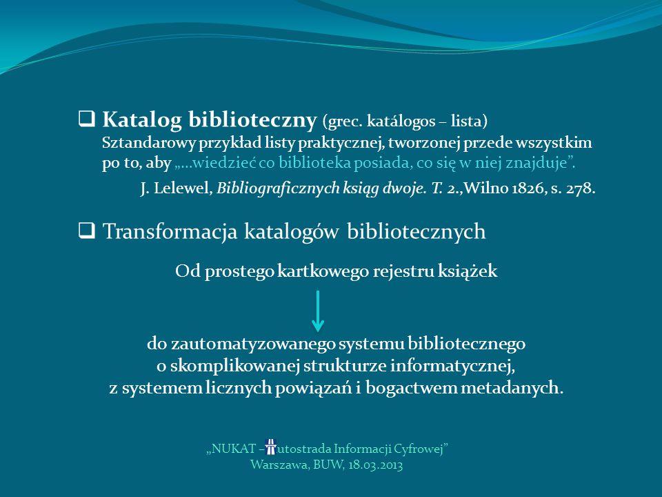 Transformacja katalogów bibliotecznych