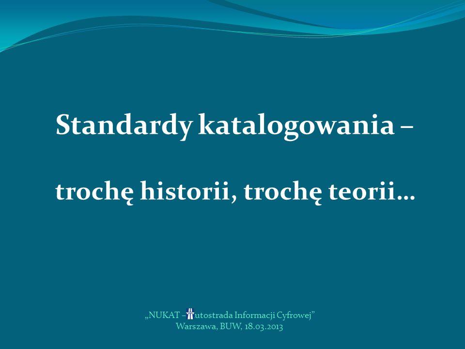 Standardy katalogowania –