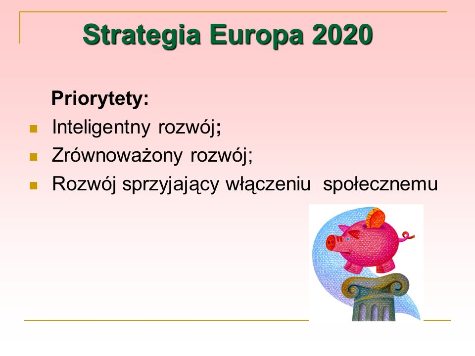 Strategia Europa 2020 Priorytety: Inteligentny rozwój;