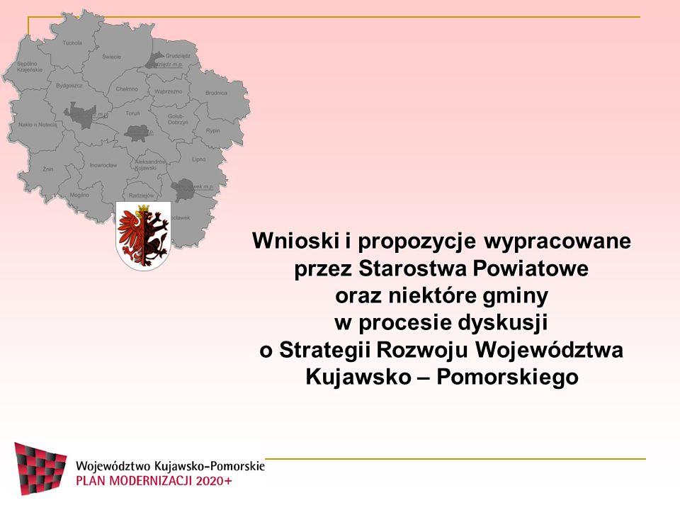 Wnioski i propozycje wypracowane przez Starostwa Powiatowe