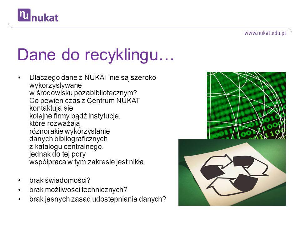 Dane do recyklingu…