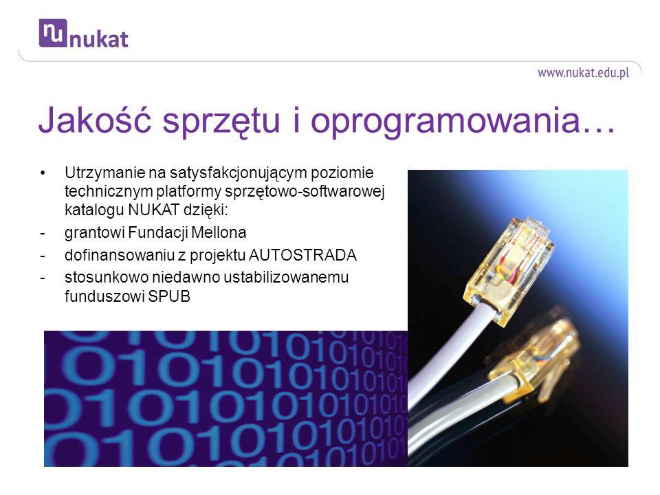 Jakość sprzętu i oprogramowania…