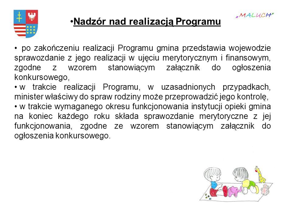 Nadzór nad realizacją Programu