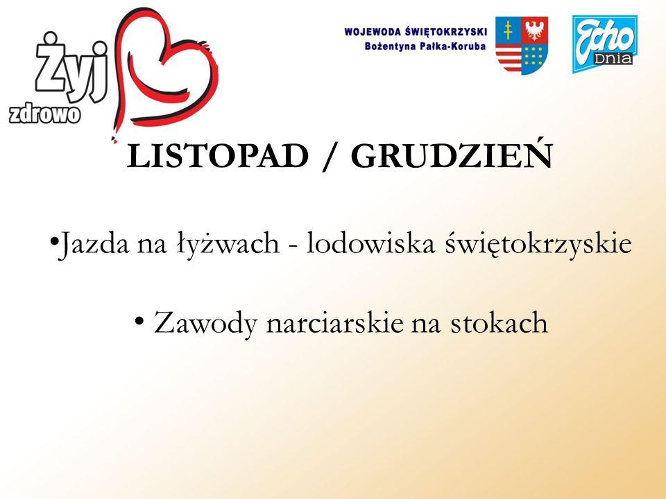 LISTOPAD / GRUDZIEŃ Jazda na łyżwach - lodowiska świętokrzyskie