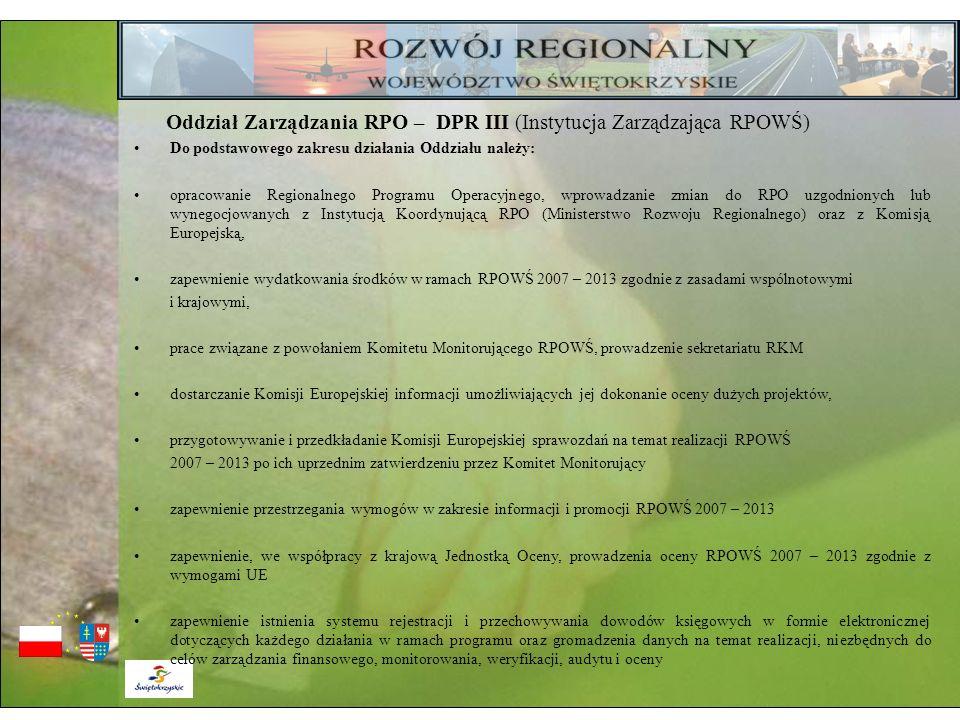 Oddział Zarządzania RPO – DPR III (Instytucja Zarządzająca RPOWŚ)