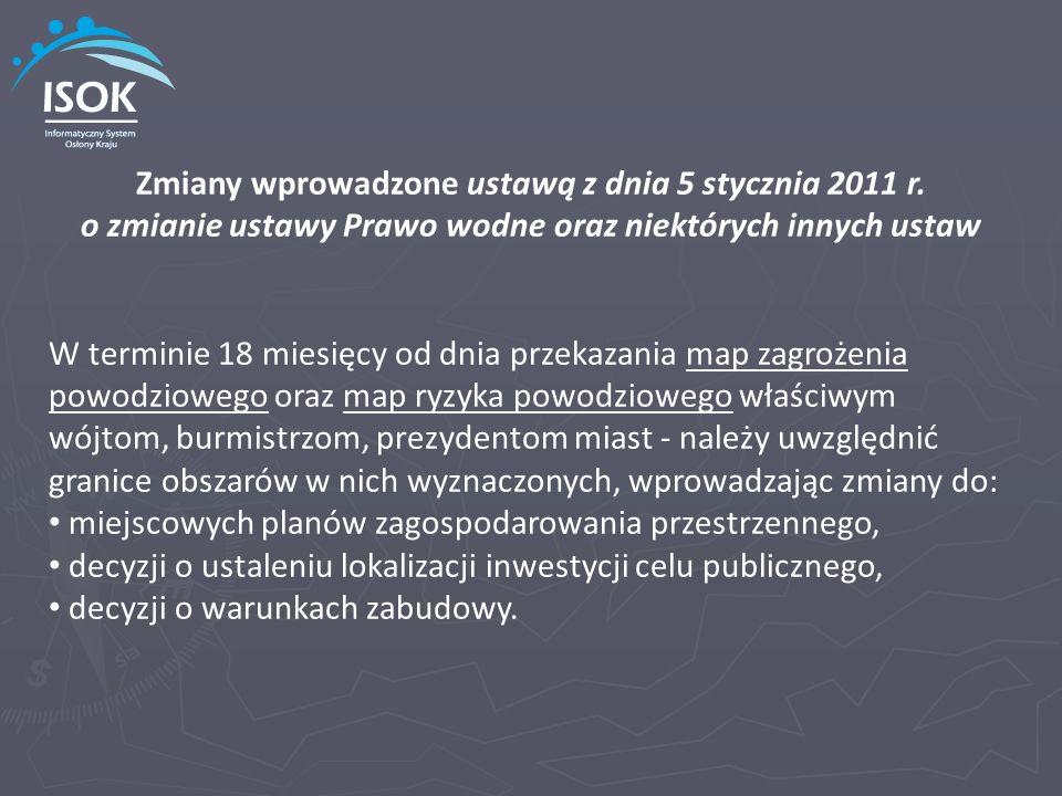 Zmiany wprowadzone ustawą z dnia 5 stycznia 2011 r