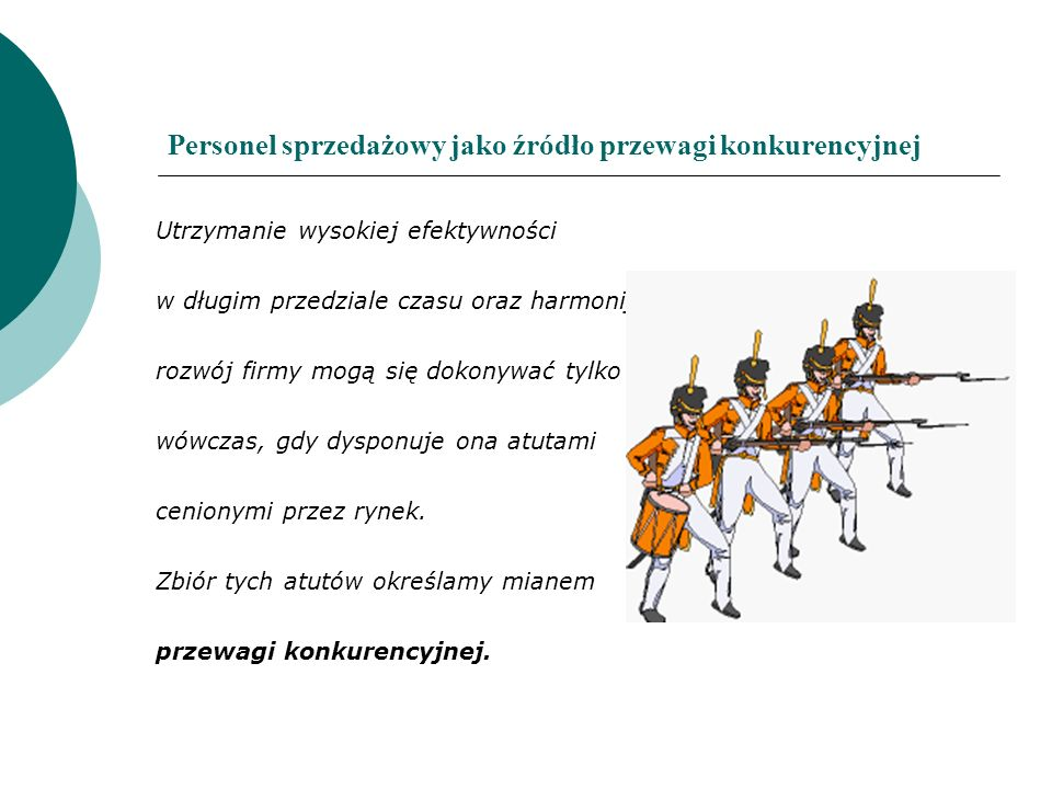 Personel sprzedażowy jako źródło przewagi konkurencyjnej