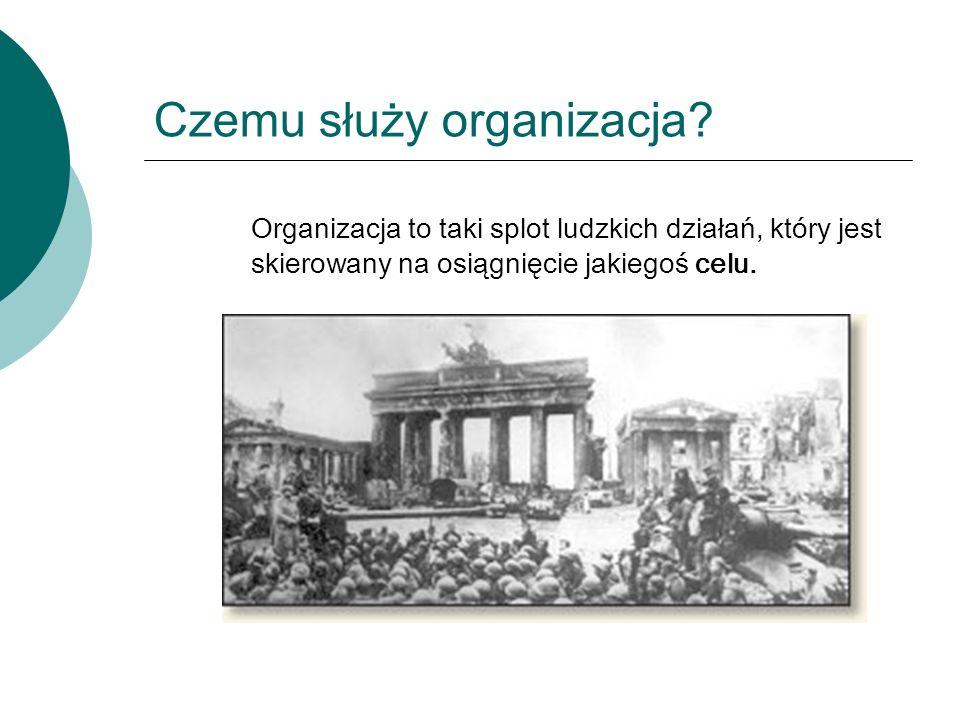 Czemu służy organizacja