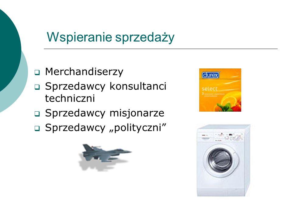 Wspieranie sprzedaży Merchandiserzy Sprzedawcy konsultanci techniczni