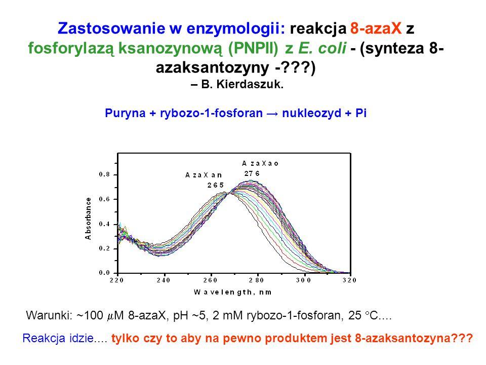 Puryna + rybozo-1-fosforan → nukleozyd + Pi