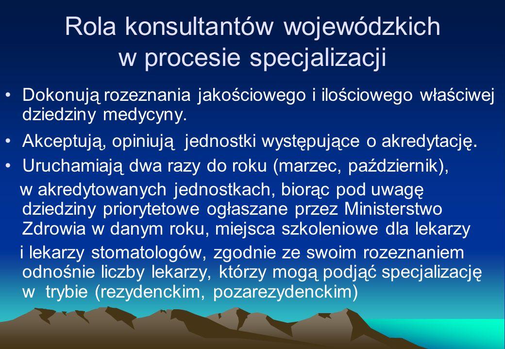 Rola konsultantów wojewódzkich w procesie specjalizacji