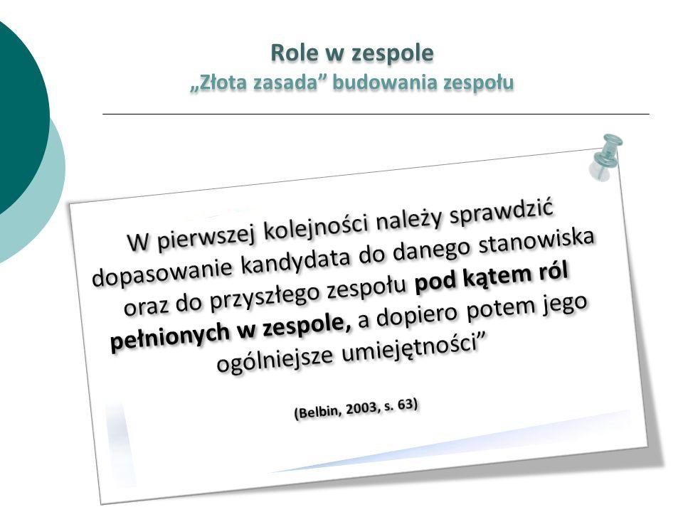 """""""Złota zasada budowania zespołu"""
