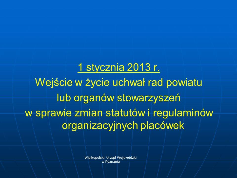 Wejście w życie uchwał rad powiatu lub organów stowarzyszeń