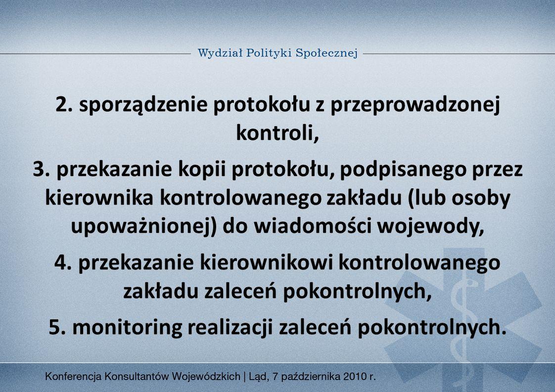 5. monitoring realizacji zaleceń pokontrolnych.