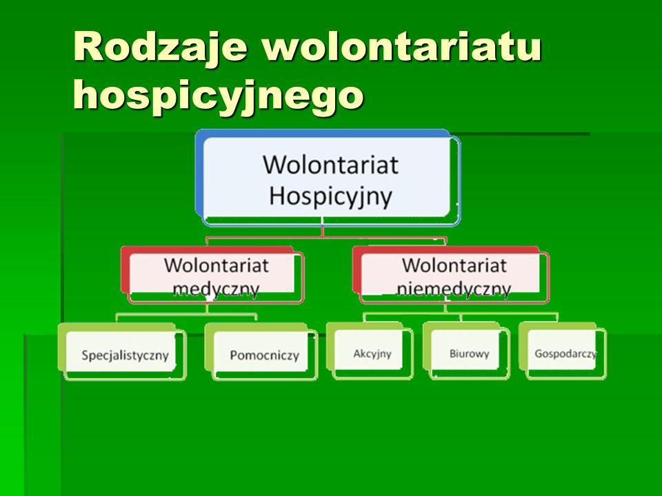 Rodzaje wolontariatu hospicyjnego