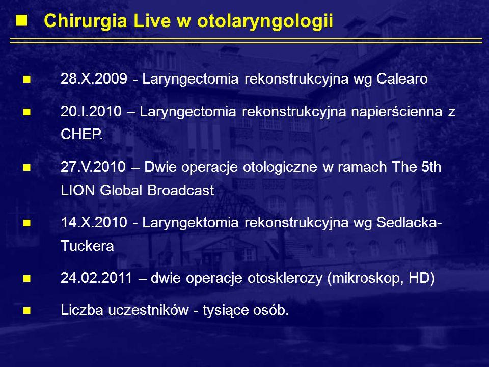 Chirurgia Live w otolaryngologii