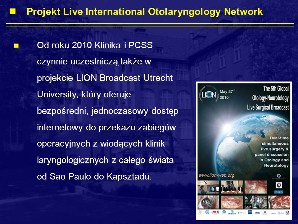 Projekt Live International Otolaryngology Network