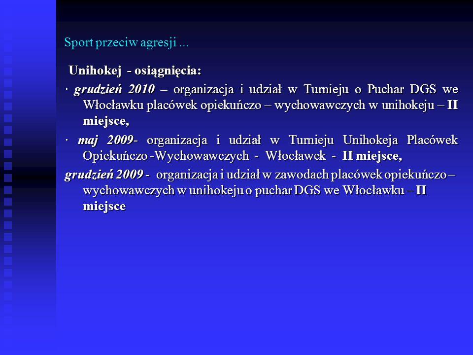 Sport przeciw agresji ... Unihokej - osiągnięcia: