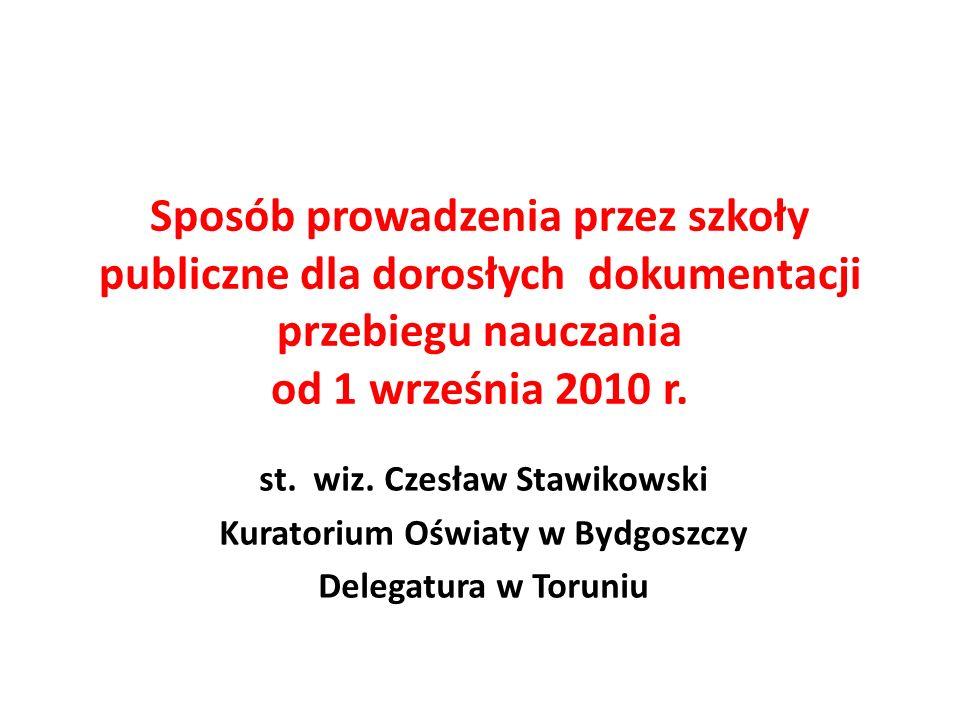 st. wiz. Czesław Stawikowski Kuratorium Oświaty w Bydgoszczy