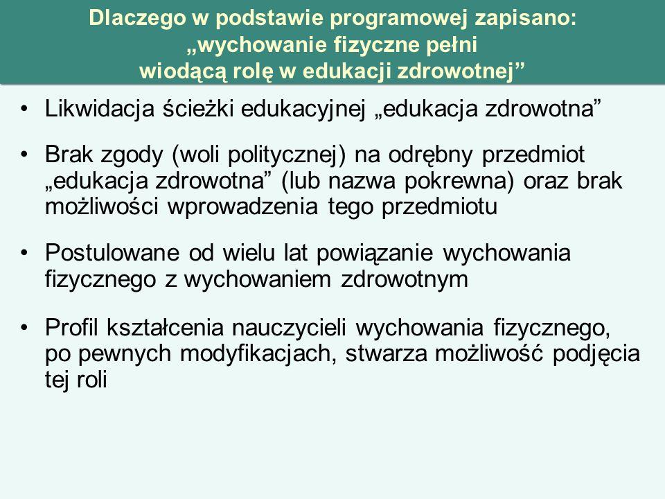 """Likwidacja ścieżki edukacyjnej """"edukacja zdrowotna"""