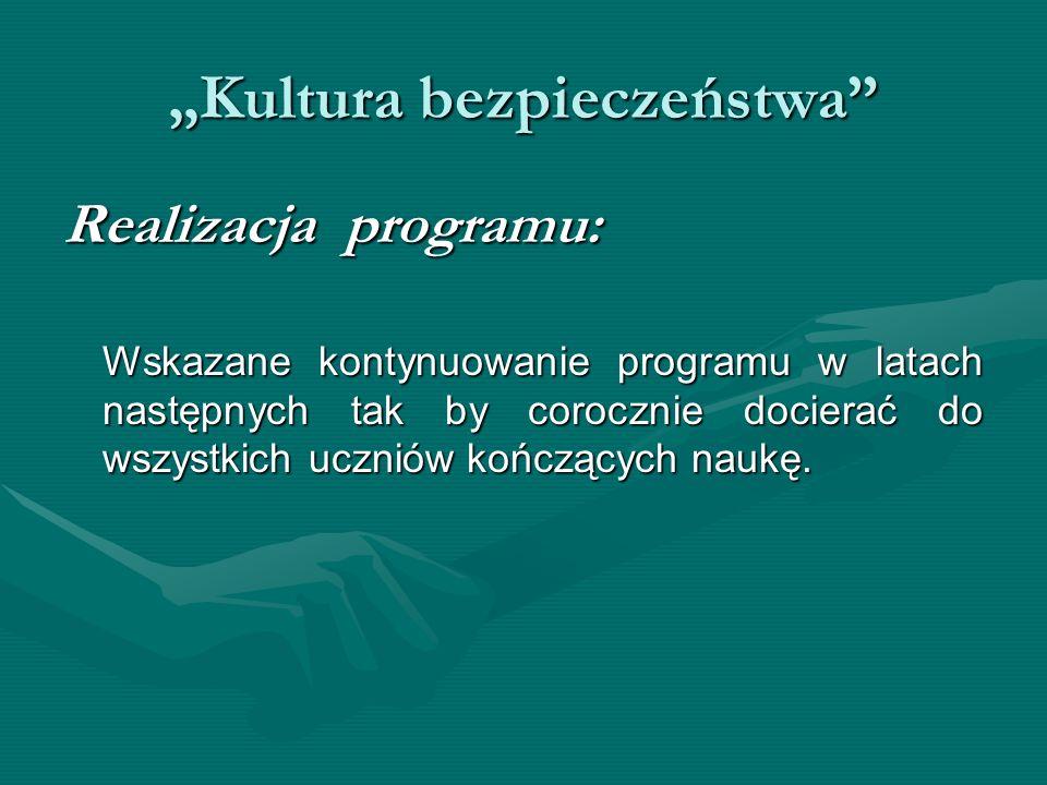 """""""Kultura bezpieczeństwa"""