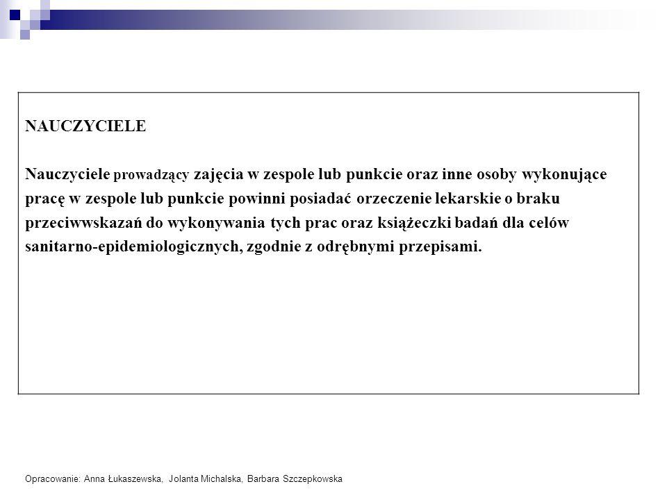 sanitarno-epidemiologicznych, zgodnie z odrębnymi przepisami.