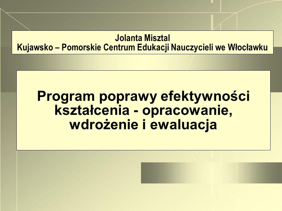 Jolanta Misztal Kujawsko – Pomorskie Centrum Edukacji Nauczycieli we Włocławku