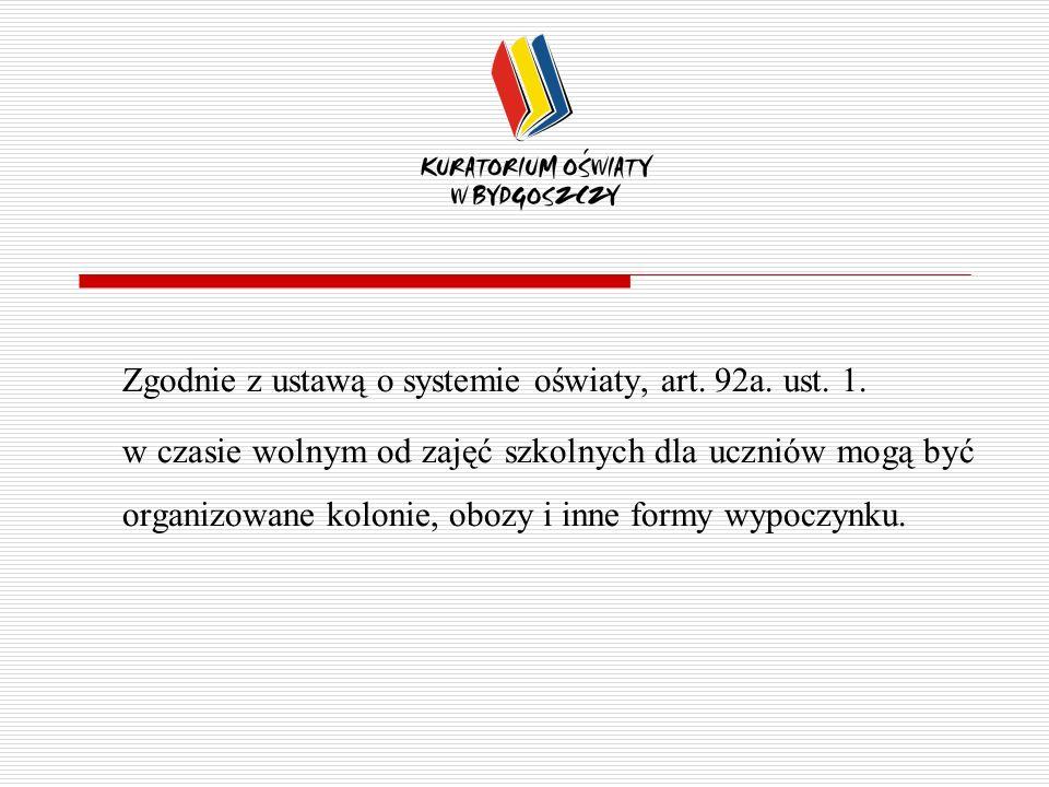 Zgodnie z ustawą o systemie oświaty, art. 92a. ust. 1.
