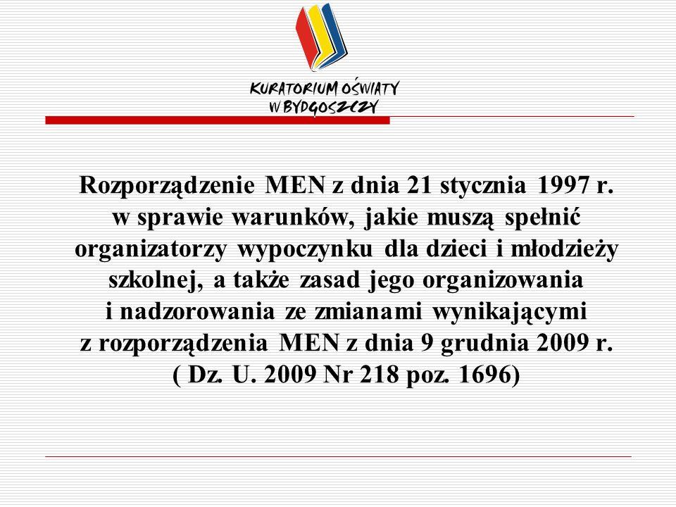 Rozporządzenie MEN z dnia 21 stycznia 1997 r