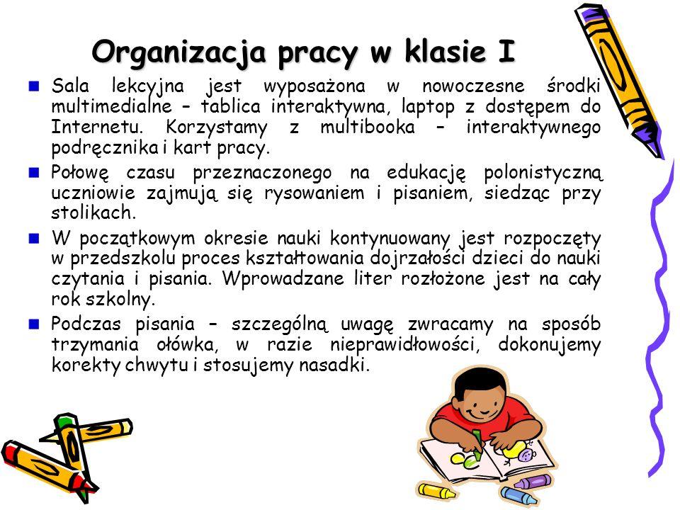 Organizacja pracy w klasie I