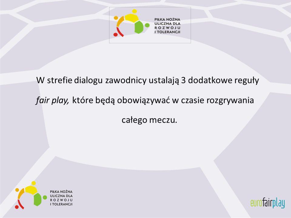 W strefie dialogu zawodnicy ustalają 3 dodatkowe reguły